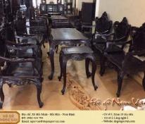 Bộ bàn ghế Louis gỗ gụ